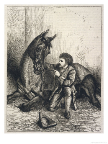 James Sullivan, the famed horse whisperer of Ireland, portrayed by Harrison Weir (1824-1906)