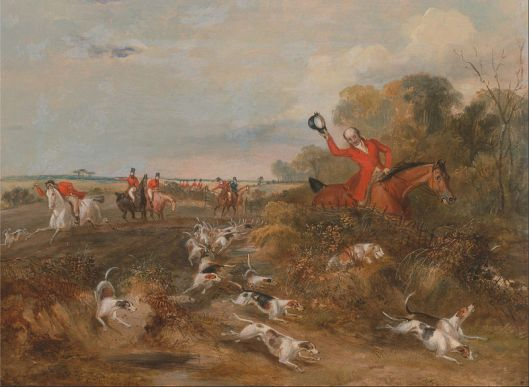Francis Calcraft Turner's Bachelor's Hall:  Capping on Hounds, oil on canvas, c. 1835.