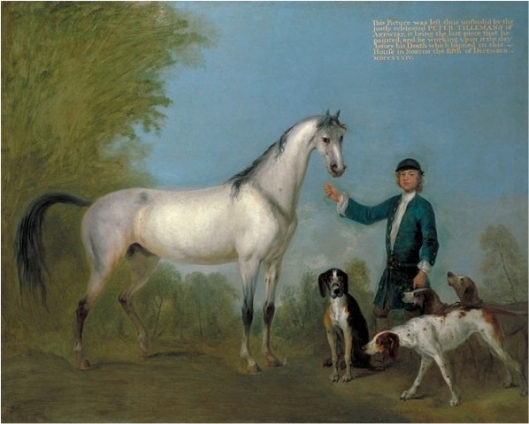 Horse_with_Groom_and_Hounds